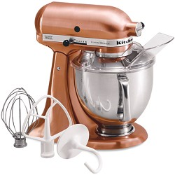 KitchenAid Custom Metallic Series 5-Quart Mixer, Satin Co...