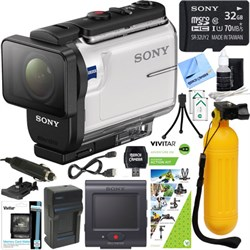 Sony HDR-AS300R Action Cam w/ Live View Remote + Outdoor ...
