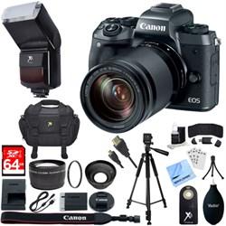 Canon EOS M5 Mirrorless Digital Camera + EF-M 18-150mm STM Lens Kit + 64GB Bundle
