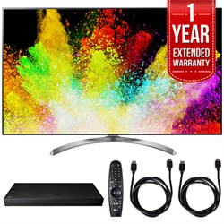 "LG 55"""" Super UHD 4K HDR Smart LED TV w/ Blu-ray Player + Extented Warranty Bundle"" E10LG55SJ8500"