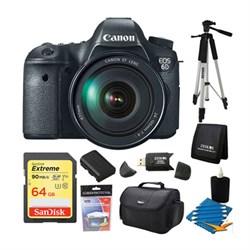 Canon EOS 6D SLR Digital Camera with Canon 24-105mm f/4.0L IS USM AF Lens 64GB Bundle