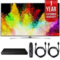 "LG 75"""" Super UHD 4K HDR Smart LED TV w/ Blu-ray Player + Extented Warranty Bundle"" E10LG75SJ8570"
