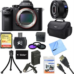 Sony a7S II Full-frame Mirrorless Interchangeable Lens Camera Body 35mm Lens Bundle E8SNILCE7SM2B