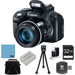 Canon Powershot SX50 HS 50x Zoom High-Performance Camera 32GB Bundle