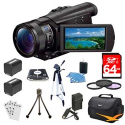 Sony FDR-AX100/B 4K Camcorder with 1-inch Sensor & 64 GB ...