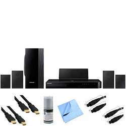 Samsung HT-J4100 - 5.1 Channel 1000-Watt Blu-Ray Home Theater System Plus Hook-Up Bundle E1SAMHTJ4100