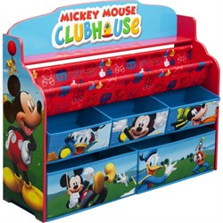 DELTA CHILDREN DELUXE BOOK & TOY ORGANIZER MICKEY MOUSE DELTB84983MM