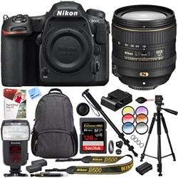 Nikon D500 20.9 MP CMOS DX Format SLR Camera 16-80mm VR L...