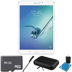 Samsung Galaxy TAB S2 8.0-INCH WI-FI Tablet (WHITE/32GB) 16GB Microsd Card Bundle