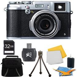 Fujifilm X100S 16MP Full HD 1080p Video Digital Camera 32GB Silver Kit