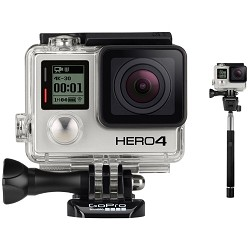 GoPro HERO 4 Black - 4K Action Camera with Selphie Stick for GoPro