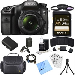 Sony ILCA68K/B a68 A-Mount 24.2MP Digital Camera w/ 18-55...