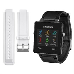 Garmin Vivoactive Smartwatch Bundle (Black) w/ Replacemen...