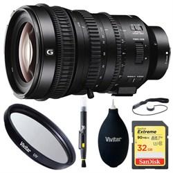Sony E PZ 18-110mm APS-C / Super 35mm E-mount Lens, 32GB ...