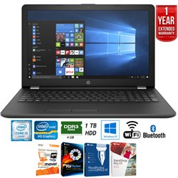 "HP 15-bs020nr 15"" Intel i3-6006U 4GB/ 1TB HDD Laptop + Ex..."