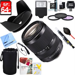 Sony 18-135mm f/3.5-5.6 DT SAM Silent Zoom A-Mount Lens + 64GB Ultimate Kit E18SNSAL18135