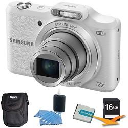 Samsung WB50F 16.2MP 12x Opt Zoom Smart Digital Camera White 16GB Kit