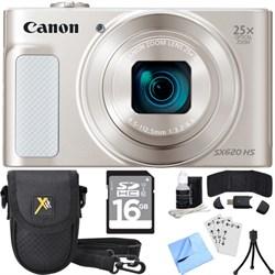 Canon PowerShot SX620 HS 20.2MP Digital Camera Silver w/ ...