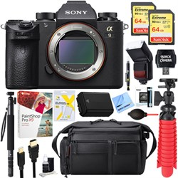 Sony Alpha a9 Mirrorless Digital Camera Body + 64GB Dual ...