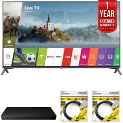 "LG 65"""" UHD 4K HDR Smart LED TV 2017 Model with Warranty + Blu Ray Bundle"" E10LG65UJ7700"