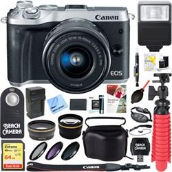 Canon M6 EOS Mirrorless Digital Camera (Silver) + 15-45mm...