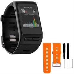 Garmin vivoactive GPS Smartwatch Regular Fit Black w/ Sil...