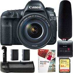 Canon EOS 5D Mark IV DSLR Camera 24-105mm IS II USM Lens ...