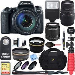 Canon EOS 77D 24.2 MP DSLR Camera + EF-S 18-135mm IS USM ...