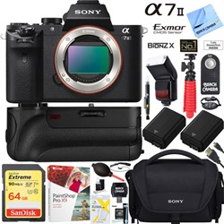 Sony Alpha 7II Interchangeable Lens Camera Body + 64GB Ba...