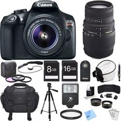 Canon EOS Rebel T6 Digital SLR Camera w/ EF-S 18-55mm IS ...