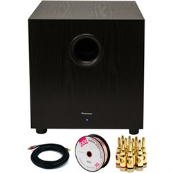 Pioneer 400W Powered Subwoofer Black with Banana Plugs & ...