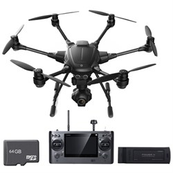 Yuneec Typhoon H RTF Hexacopter Drone w/ CGO3+ 4K Camera with Extra Battery & 64gb Card E4YUNTYHUS