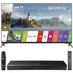 "LG 49UJ7700 49"""" 4K HD Smart LED TV (2017 Model) w/ UBD-K8500 HD Blu-Ray Disc Player"" E4LG49UJ7700"