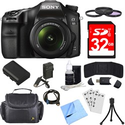 Sony ILCA68K/B a68 A-Mount 24.2MP Digital Camera with 18-...