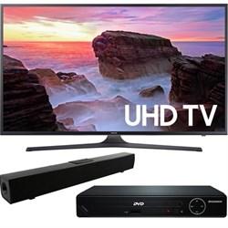 """Samsung 43"""" 4K Ultra HD Smart LED TV 2017 + HDMI DVD Play..."""