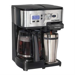 Hamilton Beach Refurbished 2-Way FlexBrew 12-Cup Coffeemaker and K-Cup Single Serve Brewer HB49983ARB