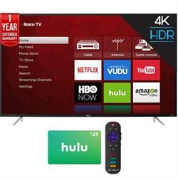"TCL 65"" UHD Dual Band Roku Smart LED TV + 3 Month Netflix..."