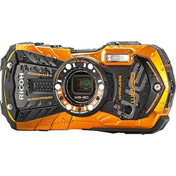 Ricoh WG-30W Digital Camera with 2.7-Inch LCD - Flame Orange