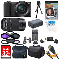 Sony a5100 Mirrorless Camera w/ 16-50mm and SEL 55-210 Le...