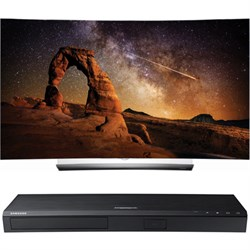 "LG OLED55C6P 55"""" Curved OLED 4K Smart TV w/ UBD-K8500 3D 4K Ultra HD Blu-ray Player"" E1LGOLED55C6P"