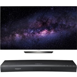 "LG OLED55B6P 55"""" 4K UHD Smart OLED TV w/ UBD-K8500 3D 4K Ultra HD Blu-ray Player"" E1LGOLED55B6P"