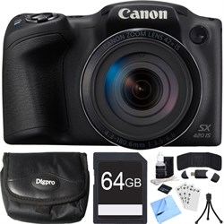 Canon PowerShot SX420 IS 20MP Black Digital Camera + 42x ...