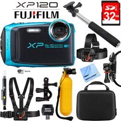 Fuji XP120 Sky Blue Compact Rugged Waterproof Digital Cam...