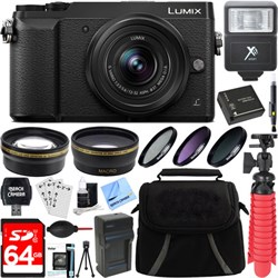Panasonic LUMIX GX85 4K Black Mirrorless Camera with 12-3...