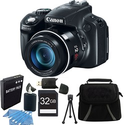 Canon Powershot SX50 HS 50x Zoom High-Performance Camera 32GB Bundle