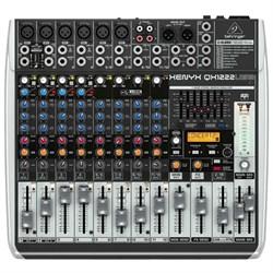 Behringer XENYX QX1222USB 16-Input 2/2-Bus Mixer w/ Multi...