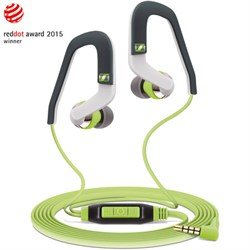 Sennheiser MX 686G Sports Earbud Headphones w\/ Controls for Android Smartphones Green\/Grey