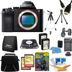 Sony Alpha 7R a7R Digital Camera and 2 64 GB SDXC Cards and 2 Batteries Bundle