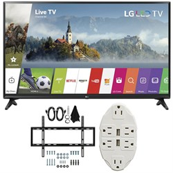 LG 55-inch Full HD Smart TV 2017 Model 55LJ5500 with Wall...