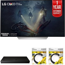 "LG 65"""" C7 OLED 4K HDR Smart TV 2017 Model with Warranty + Blu Ray Bundle"" E10LGOLED65C7P"